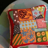 Patchwork Cushion Cake