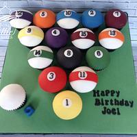 Pool Ball cupcakes