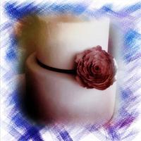 Simple Peony wedding cake