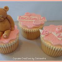 Baby Girls Christening Cupcakes