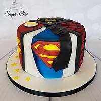 Superheroes Birthday Cake