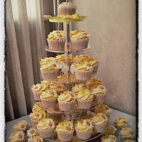 Daisy Cupcake Tower