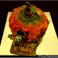 Painted Pumpkin Cake