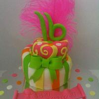 Whimsical Topsy Turvy Cake