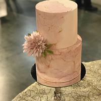 Dhalia and pink stone