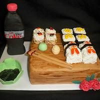 Sushi cake for my daughter's 1st Mother's Day! by Melissa