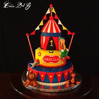 Carnival Themed Cake by Laura Barajas