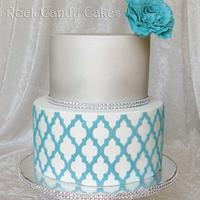 Turquoise Moroccan Cake