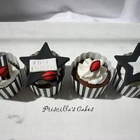 Collingwood themed cupcakes