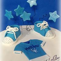 UK fan Boy Baby Shower Cake