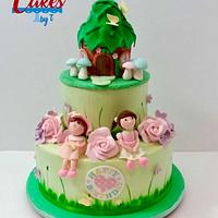 Woodland/fairy birthday cake