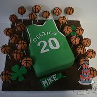 Boston Celtics Cake & Cake Pops