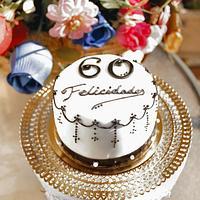 Choco orange mini birthday cake by Artym