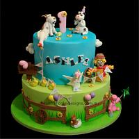 Party Farm Animals Cake