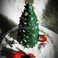 Christmas cake topper