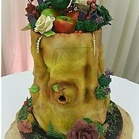 Applez Nature Wedding Cake