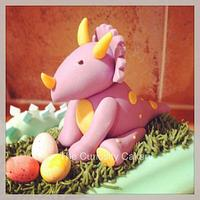 Dinosaur 1 cake by The Curiosity Cakery