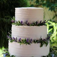 Lavanda wedding cake :