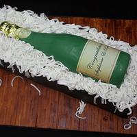 Champange Bottle cake