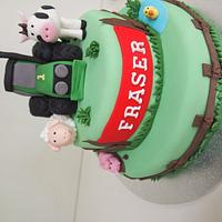 Farm cakes for twins by Katie Rogers