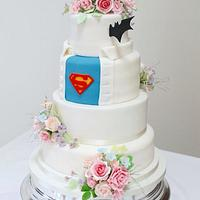 His and hers wedding cake