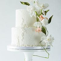 Cattleya sugarflower cake