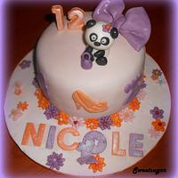 A FASHION CAKE FOR A LITTLE GIRL