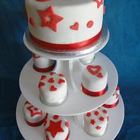 Stars and Hearts wedding cake.