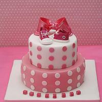 fuxia christening cake by Alessandra