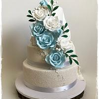 Two sided wedding cake :)