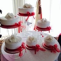 Single tiers wedding cake