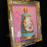 Framed Rococo Wedding cake