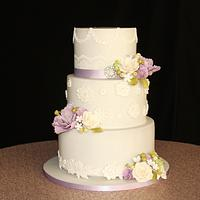 Simple, Elegant Wedding Cake
