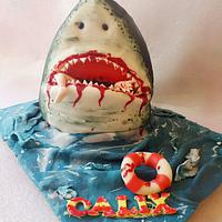 Hungry shark cake