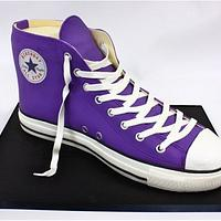 Purple Converse All Star Cake