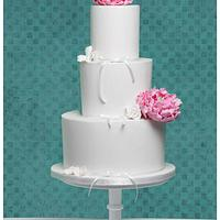 Clean and chique weddingcake