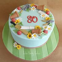 Cricket and Gardening Cake by Julia Hardy