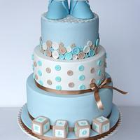 Buttons Christening Cake
