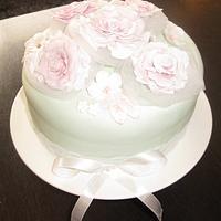 Vintage cake roses.