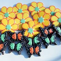 Flower and Butterfly Cookies