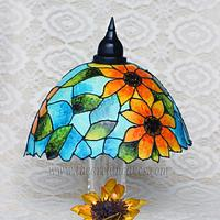 Sunshine Lampshade with Gelatin Sunflower