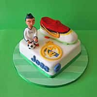 Real Madrid and CR7 cake