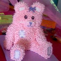 My first 3D Teddy Bear Cake