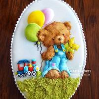 Little Kai likes..... cookies, trains, teddy bears and balloons!