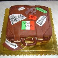 "Suitcase ""Viva Italia"" cake"