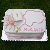 Comfirmation cake for girl
