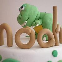 Noah's dino cake