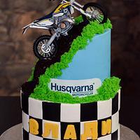 Motorbike cake!