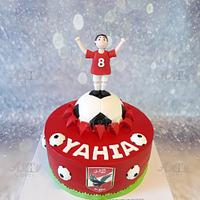 Football cake by Arty cakes