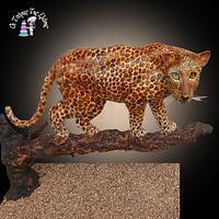 Leopard Gravity Cake